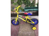 Kids/boys first bike with stabilisers