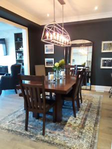 Dining Set - Table w/ Insert, 4x chairs, 1x bench