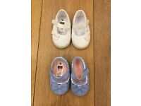 Baby girl Pram shoes 6-9 months TU