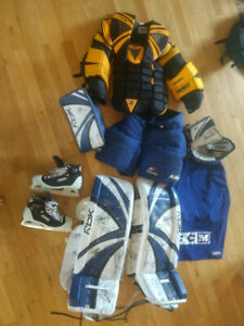 Used Goalie Equipment & RBK 5K set
