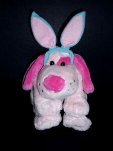 Pink Blue Dog stuffy .. Clean,SmokeFree,Like NEW Cambridge Kitchener Area image 1