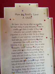 WALL ART PICTURE - How to Really Love a Child