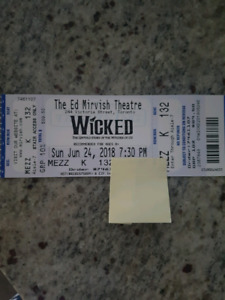 WICKED Broadway Show June 24th only 1 ticket $100
