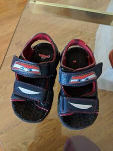 Boys Cars sandals (sz 8T)