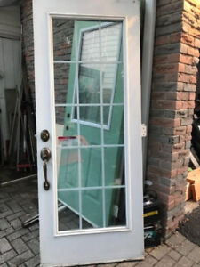 32 34 36 inch steel glass exterior French patio entry door calif