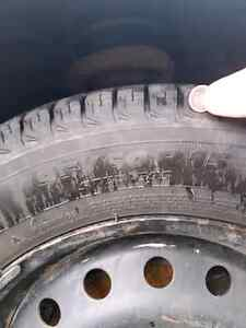 New winter tires, used less than 500km, 15'',  4bolt pattern