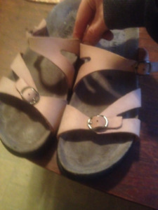 Dusty pink Mephisto all leather sandals size 10