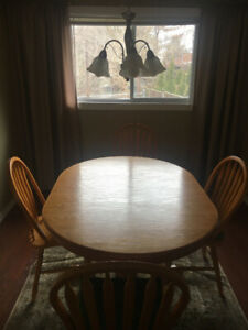 Solid wood kitchen table + chairs