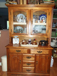 Maple Sideboard and Hutch