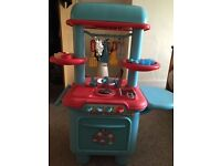 Tess Toys - ELC Early Learning Centre Sizzling Kitchen Bright Colours Red & Blue or Orange & Green