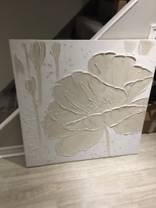 White Floral Wall Art