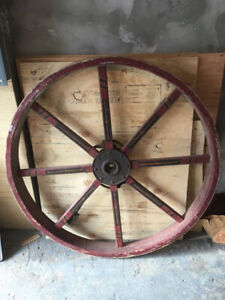 Antique Wagon Wheel from the 1800s