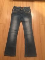 SZ 10 GIRLS ADORABLE JEWELED JEANS-$5 TAKES THEM