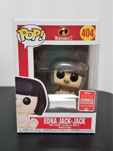 Funko Pop Disney The Incredibles 2 SDCC Edna Jack Jack #404 Excl