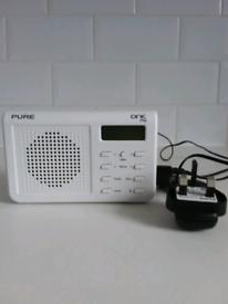 PURE ONE MI DAB DIGITAL FM RADIO. WHITE. £25
