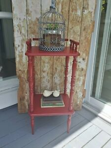 Vintage Accent Table in Red