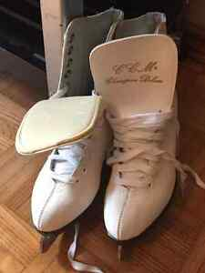 Kids skates and ladies size 6 figure skates and vintage mens