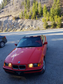 BMW E36 318i Red Convertible