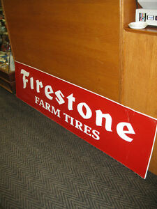 Firestone Sign -- FROM PAST TIMES Antiques & Coll - 1178 Albert