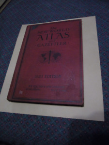 The New World Atlas and Gazetteer 1923 Edition
