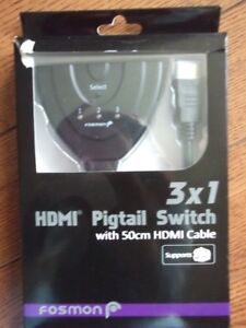New HDMI Pigtail Switch with 3 inputs and 1 output.