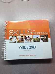 """""""NEW"""" Skills for success with Microsoft office 2013 Vol 1"""
