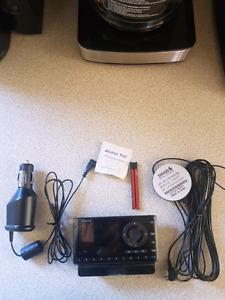 Sirius portable satellite radio with accessories