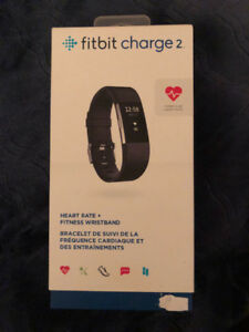 Fitbit charge 2 HR - like brand new in box!!extra bands included