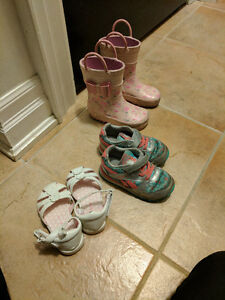 Toddler girl shoe lot vans, Reebok, Joe fresh