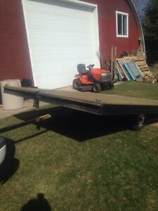 Utility flat bed trailor