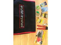 Anyfish Anywhere tackle bag, Beachcasting rod and fixed spool reel.