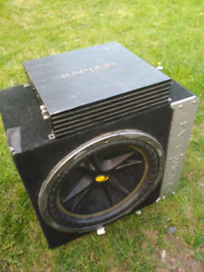 Kicker comp sub and 2amps
