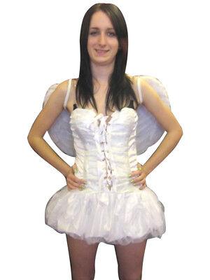 Sexy Bianco da Fata Angel Costume Vestito Halloween
