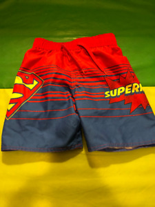BOYS SUPERMAN SWIM TRUNKS - NWOT - 4T