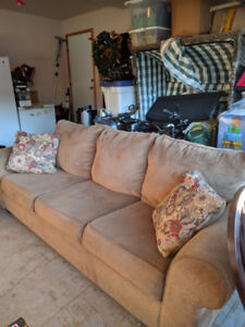 Light Brown 3 Cushion Couch