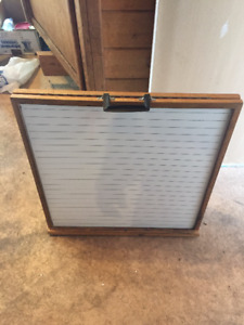 Wooden Double Sided Dry Erase Whiteboard