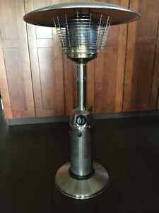 STAINLESS TABLE-TOP PATIO HEATER, OUTLAND GAS FIRE PIT