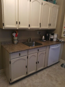Kitchen cabinets complete with appliances for sale.
