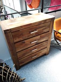 Acacia x 4 drawer chest