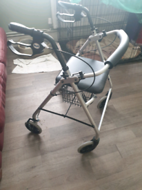 Days 4 wheeled rollator with seat & basket