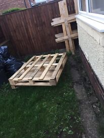 2 pallets and wood