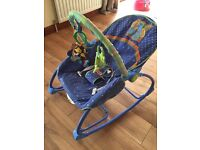 Vibrating/rocking chair with toys
