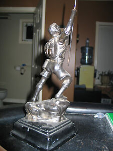 1940 BOY SCOUT BOOK ENDS .&  Leader statue Perfect gift Peterborough Peterborough Area image 3