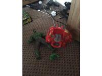 Spiderman and Hulk toys