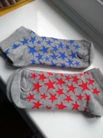 2 pairs M&S trainer socks. Size 4-6 NEW. k