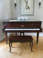 Antique Poole Baby Grand Piano