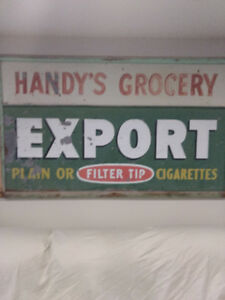 Old Metal Store Sign