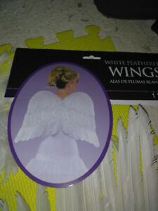 Ice princess angel  wings white feathe.real. lots of costumes