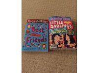 Jacqueline Wilson books x 2 Best friends and Little Darlings
