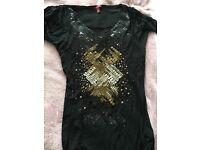 Ladies size 8 Ted Baker sequin top